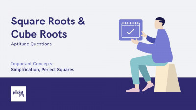 Square Roots and Cube Roots Aptitude Questions - PacketPrep