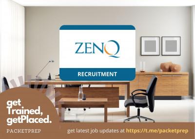 ZenQ Hiring Test Engineers 2021 - Off campus - PacketPrep
